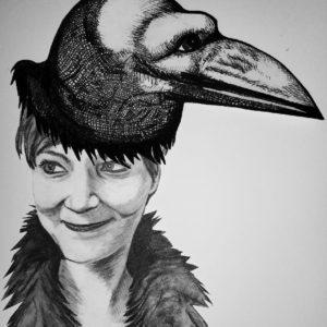 Laura Draper selfportrait with hat-SQ